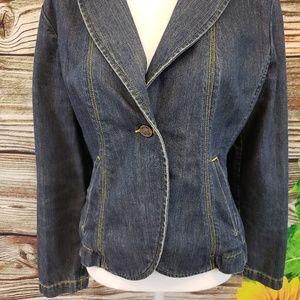 I.e. Relaxed jean jacket size Large
